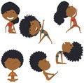 Female yoga set.