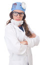 Female young doctor isolated on white Royalty Free Stock Images