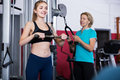 Females of different age strength training in gym Royalty Free Stock Photo