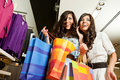 Females shopping bags Stock Photo