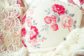 Feminine lacy underclothes background Royalty Free Stock Photo