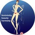 Femininity beauty harmony Fotos de Stock