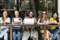Femininity Bonding Brunch Cafe Casual Socialize Concept Royalty Free Stock Photo