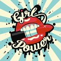 Feminism slogan with street lettering Girl Power Royalty Free Stock Photo