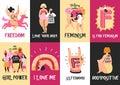Feminism Vertical Cards