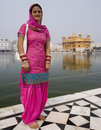 Femme sikh - temple d'or - Amritsar - l'Inde Photographie stock libre de droits