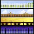 Fence banners Royalty Free Stock Images