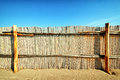 Fence beautiful at a beach nice background Royalty Free Stock Photography