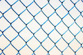 Fence blue on a white background Royalty Free Stock Photography