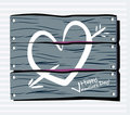 Fence chalk heart Royalty Free Stock Photo