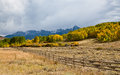 Fence In Colorado Mountains Stock Photography