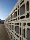 Fence of concrete blocks decorative Royalty Free Stock Photography