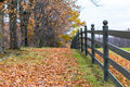 Fence in fall Royalty Free Stock Photo