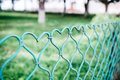 Fence in the form of a heart