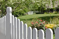 Fence in the Front Yard Royalty Free Stock Photo