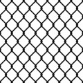 Fence link pattern. Seamless chain texture black mesh wallpaper security wall perimeter industrial safety metal grid