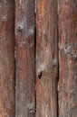 Fence made of logs wooden Royalty Free Stock Images
