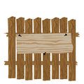A fence made of wood. Classified ads and commercials illustration Royalty Free Stock Photo