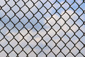 Fence of metallic net Stock Photography
