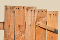 Fence plank was introduced to as a which isolated on brown background Stock Photography