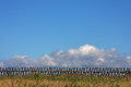Fence and skyscape Royalty Free Stock Images
