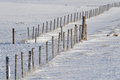 Fence on the snow Royalty Free Stock Photo