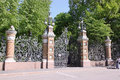 The fence in st petersburg russia of mikhailovsky garden Royalty Free Stock Images