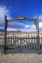 Fence surrounding pioneer cemetery in fort churchill state park nv Stock Photos