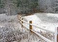 Fence in Winter Snow Royalty Free Stock Photo