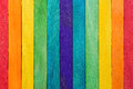 Fence wooden rainbow colorful for wooden textured background use Royalty Free Stock Photo