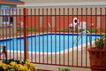 Fenced Swimming Pool Royalty Free Stock Photos