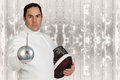 Fencer athlete Stock Photography