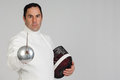 Fencer athlete Royalty Free Stock Photos