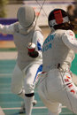 Fencing cup torino woman foil championship Stock Photos
