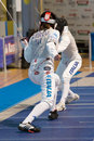Fencing cup torino woman foil championship Royalty Free Stock Images