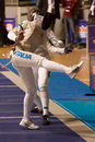 Fencing cup torino woman foil championship Royalty Free Stock Photography