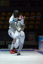 Fencing cup torino woman foil championship Royalty Free Stock Photos