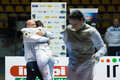 Fencing cup torino woman foil championship Stock Photo