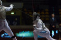 Fencing cup torino woman foil championship arianna errigo winner Royalty Free Stock Photos