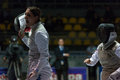 Fencing cup torino woman foil championship arianna errigo winner Royalty Free Stock Photo