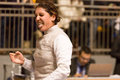 Fencing cup torino woman foil championship winner arianna errigo Royalty Free Stock Photos