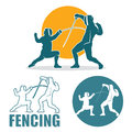 Fencing labels Royalty Free Stock Images