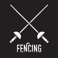 Fencing rapiers icon Royalty Free Stock Photo