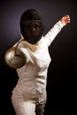 Fencing Woman Royalty Free Stock Photo