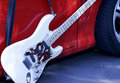 Fender Stratocaster Rockin Down The Highway Royalty Free Stock Image