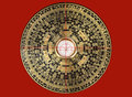 Feng shui compass luopan for decorating auspicious homes Stock Images