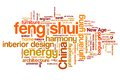 Feng shui concepts word cloud illustration word collage concept Stock Photos