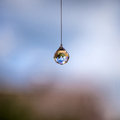 Feng shui crystal hanging at home Royalty Free Stock Image