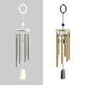 Feng shui wind chime isolated on white set of two Stock Image