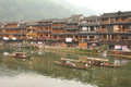 Fenghuang ancient town in china may tuojiang river on may the of was added to the unesco world heritage Stock Images